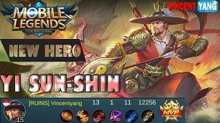 Mobile Legends - Episode 37: New Hero YI SUN-SHIN Legendary Kill! MVP Builds and Gameplay