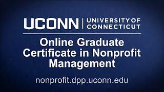 UConn Online Graduate Certificate in Nonprofit Management