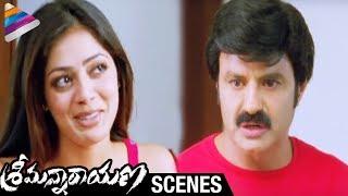 Srimannarayana Movie Scenes | Balakrishna trying to hide Parvathi Melton from Isha Chawla