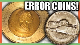 5 VALUABLE ERROR COINS WORTH MONEY - RARE COINS TO LOOK FOR