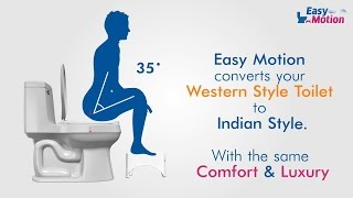 Easy Motion Stool | Convert Western Toilet to Indian Toilet