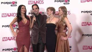 PornDoe Premium interview with Eric John, Riley Reynolds and Heather Lexi  @ the AVN Awards 2016