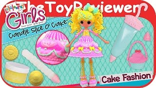 Lalaloopsy Girls Cake Candle Slice O' Cake Fashion Doll Unboxing Toy Review by TheToyReviewer