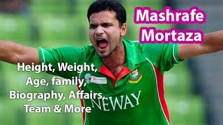 Mashrafe Mortaza Height, Weight, Age, Biography, Wiki, Wife, Family