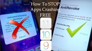 NEW How To STOP Apps Getting Revoked / Crashing iOS 9 / 10 / 11 NO Jailbreak NO PC iPhone iPad iPod