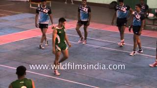 Players use various tricks - NCC Kabbadi match