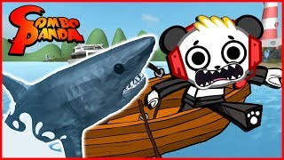 Roblox ESCAPE SHARK JAWS Sharkbite Let's Play with Combo Panda