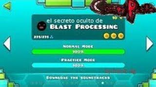 Creepypasta de geometry dash // el secreto oculto de blast proccessing