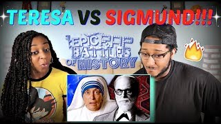 "Epic Rap Battles of History ""Mother Teresa vs Sigmund Freud"" REACTION!!"