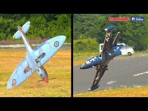 BEST COMPILATION of BAD and CRASH RC LANDINGS 1