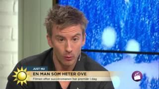 Skådespelarna från En man som heter Ove - Så hanterar du en surgubbe -  - Nyhetsmorgon (TV4)