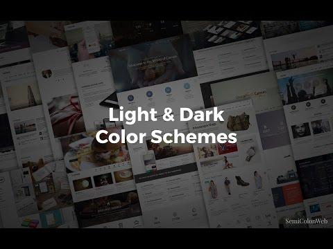 Easy Dark & Light Color Scheme Editing | Canvas HTML