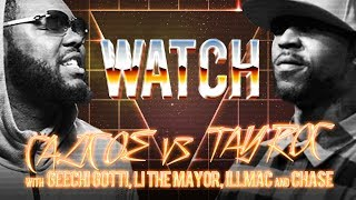 WATCH: TAY ROC vs CALICOE with GEECHI GOTTI, LI THE MAYOR, ILLMAC and CHASE MOORE