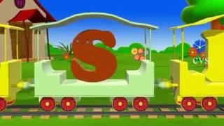 Learn Alphabet Train Song   3D Animation Alphabet ABC Train song for children   YouTube 360p