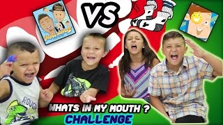 DINGLE HOPPERZ VS FUNnel VISION !! WHATS IN MY MOUTH ?!? FUNNY, GROSS! | CHALLENGE