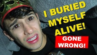 I WAS BURIED ALIVE * 24 HOUR CHALLENGE * gone wrong - in walmart