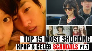 Top 15 Most SHOCKING Kpop & Korean Celebrity SCANDALS of All Time Pt.1   HOT TOPIC