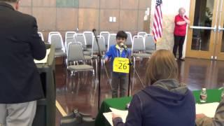 San Angelo Scripps Regional Spelling Bee - 2016 - Championship round - Akash Vukoti