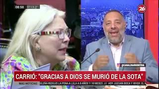 Canal 26 - DE 8 A 10 Con Gustavo Mura - Repercusiones Del Exabrupto De Carrió