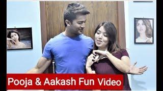 Pooja Sharma and Aakash Shrestha Fun Video / Ramkahani nepali movie