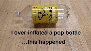 Exploding Pop Bottle goes Kaboom ! !