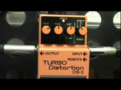 BOSS DS 2 TURBO DISTORTION GUITAR FX DEMO