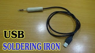How To make USB Soldering Iron Simple - Port USB 5v- 2A