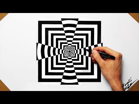 Xxx Mp4 Cool Optical Illusion Quadrate Speed Drawing 2018 How To Draw 3gp Sex