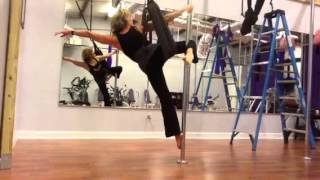 Fly Gym Pole. Single Point Mounted Swing. Series