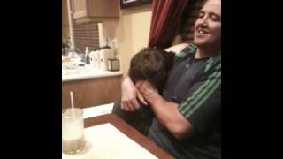 Pie eating loser has to sniff his dads armpits!!