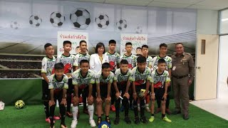 Thai soccer team and coach released from hospital, talk about rescue