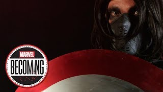 Cosplayer Chris Burns becomes Bucky Barnes – Marvel Becoming