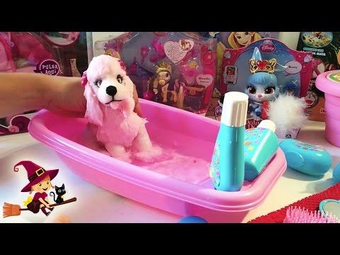 Juguetes de Baño Bañera con accesorios de baño Perro de peluche