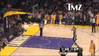 Kobe Bryant Saying Fucking Faggot To The Ref,
