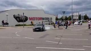 Mercedes Benz AMG spinning around Motorworld  2k17