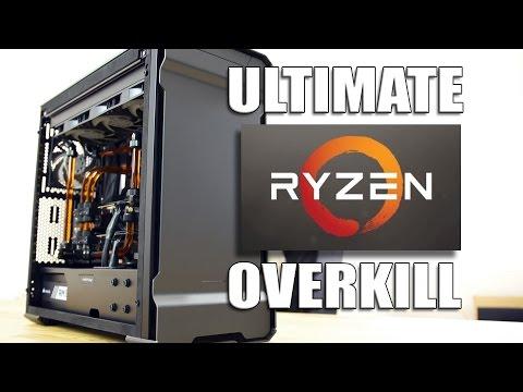 Insane AMD Ryzen 1800X Watercooled PC Build Ultimate Overkill