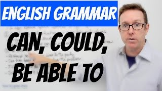 English lesson B1 - Using 'can', 'could' and 'be able to' for ability - gramática inglesa