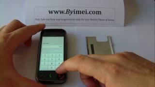 Nokia N97 mini Unlock & input / enter code