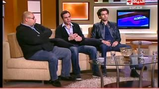 بوضوح - محمد إمام : حياتي قبل ما أقابل معتز التوني حاجة و بعدها حاجة ، عمرو الليثي : و أنا برضه