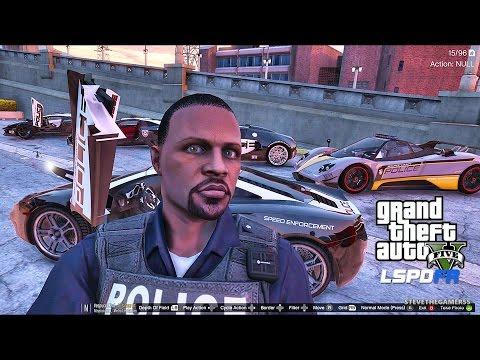 GTA 5 LSPDFR 0.3.1 - EPiSODE 136  - LET'S BE COPS - SUPER CARS PATROL (GTA 5 PC POLICE MODS)