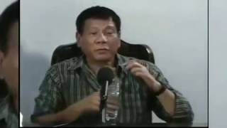 President Elect Rodrigo Duterte Press Con Tuesday Night May 31, 2016 Part 6