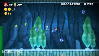 New Super Mario Bros. U - 9-3: Superstar Road (Swim for Your Life!) ALL STAR COINS