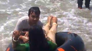 Laboni Beach, Enjoying People, in Bangladesh