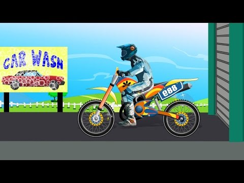 Bike Car Wash Toy Bike For Kids Videos For Children Baby Videos