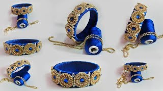 DIY SIlk Thread Bangle Making video | Bridal blue silk thread Bangle | Today fashion