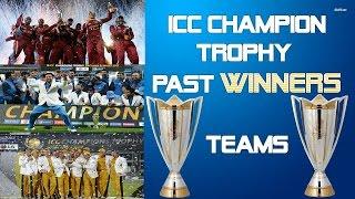icc champions trophy|| champion trophy winner list || champion trophy final Match