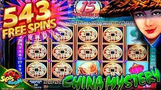 543 FREE SPINS on CHINA MYSTERY BIG WIN!!! 1c Konami Video Slot