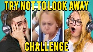 ADULTS REACT TO TRY NOT TO LOOK AWAY CHALLENGE