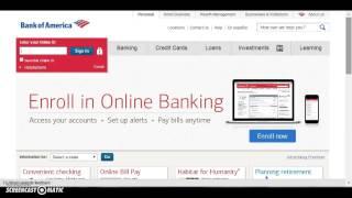Bank of America (BofA) Banking Login   www.bankofamerica.com