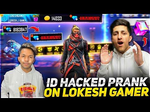 Wasting All Diamond Of Lokesh Gamer💎 Id Hack Prank Global Top 1 Badges 😂 Garena Free Fire